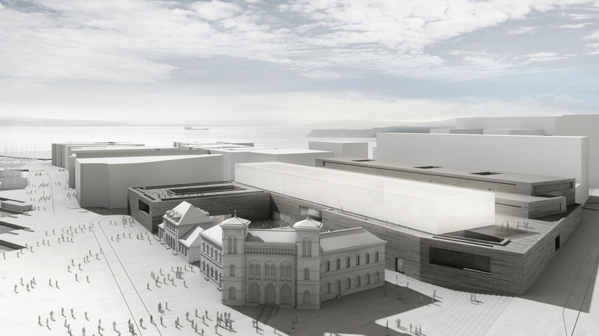 PASSIVT: Det nye Nasjonalmuseet kan sette verdensrekord i lavt energibruk for museumsbygg. Foreløpig er det så tidig i planfasen at ingen tør gjette hvor langt ned man kan komme.