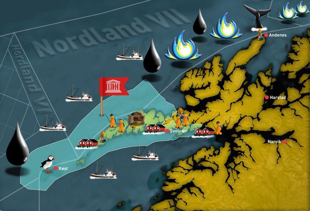 MULIG KOMPROMISS: Et mulig kompromiss i slaget om petroleumsutvinning i Lofoten og Vesterålen kan gi delvis åpning.