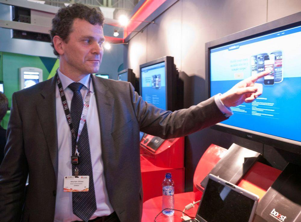 MOBILEN STØRST: - I mange av de nye markedene vi selger til er det ikke PC-en, men mobilen som er den viktigste kilden til internett, sier styreformann Morten Wiese i Boost Communications.
