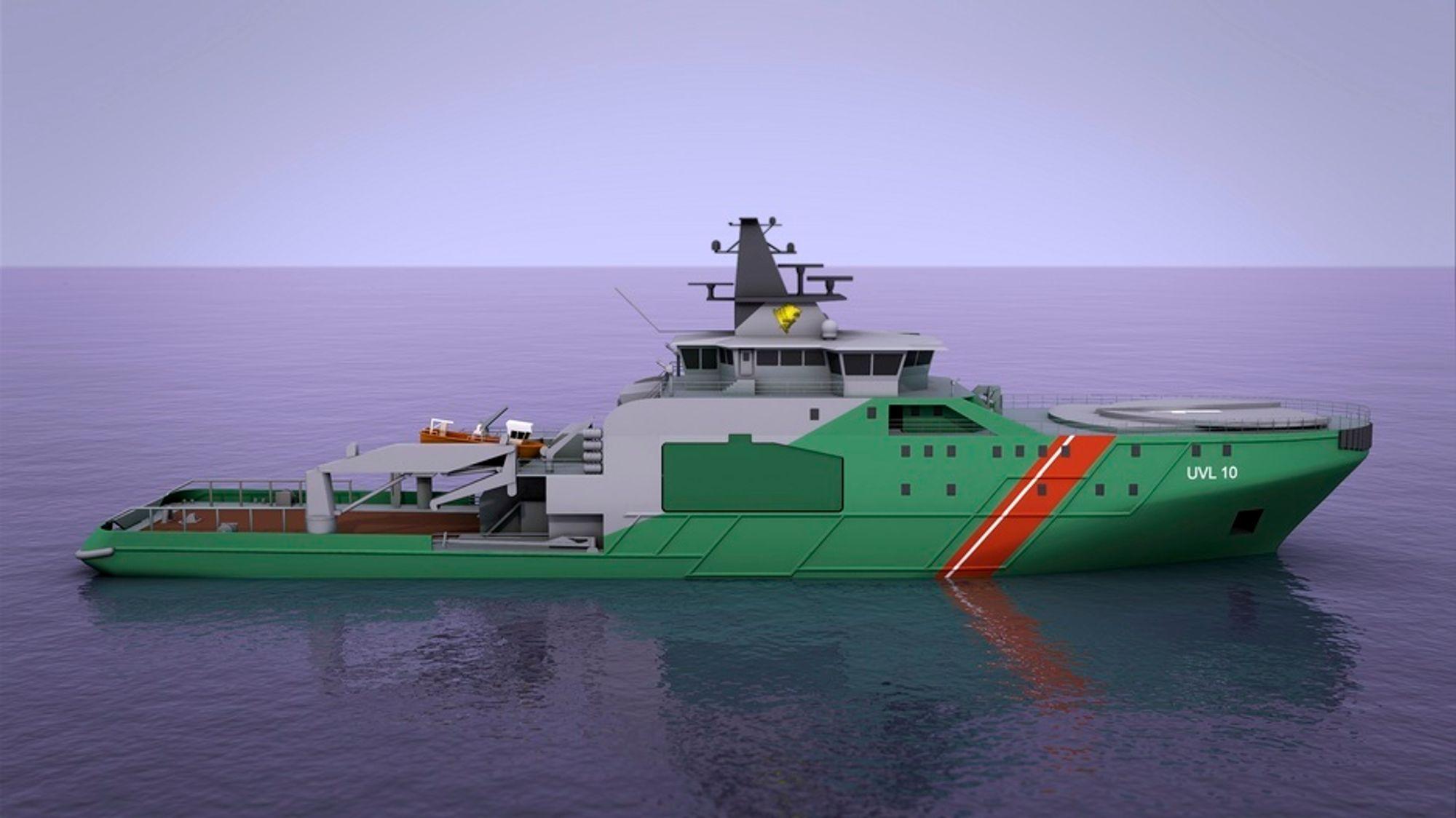 VAKT: Grensevaktskipet til finske myndigheter blir moderne og miljøvennlig med LNG-motorer (dual fuel).
