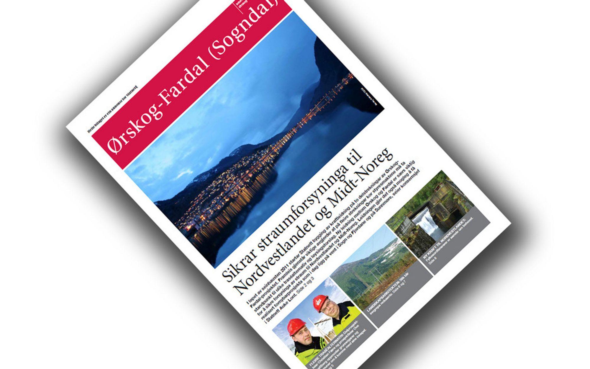 STATNETT-REKLAME: Slik ser det ut når Statnett informerer om sine prosjekter. Denne avisen ble i mai levert som innstikk i lokal- og regionalaviser i Møre og Romsdal og Sogn og Fjordane.
