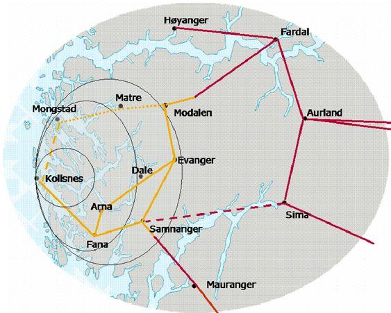 RINGVEI: BKK ønsker en sterk ringvei for å sikre strømforsyningen i Bergensregionen.
