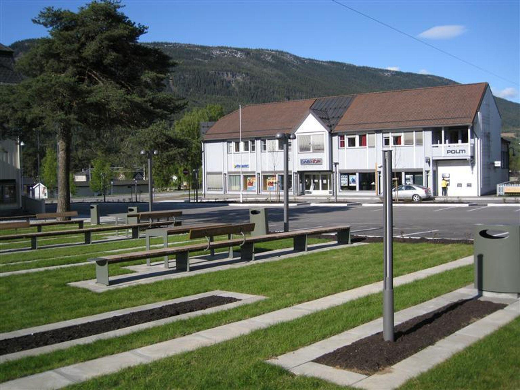 VANT: Kaupangerparken er et av områdene Ringebu har trukket frem i sin søknad. I dag vant de kampen om Statens Bymiljøpris, som eneste landsby i konkurranse med fire bykommuner.