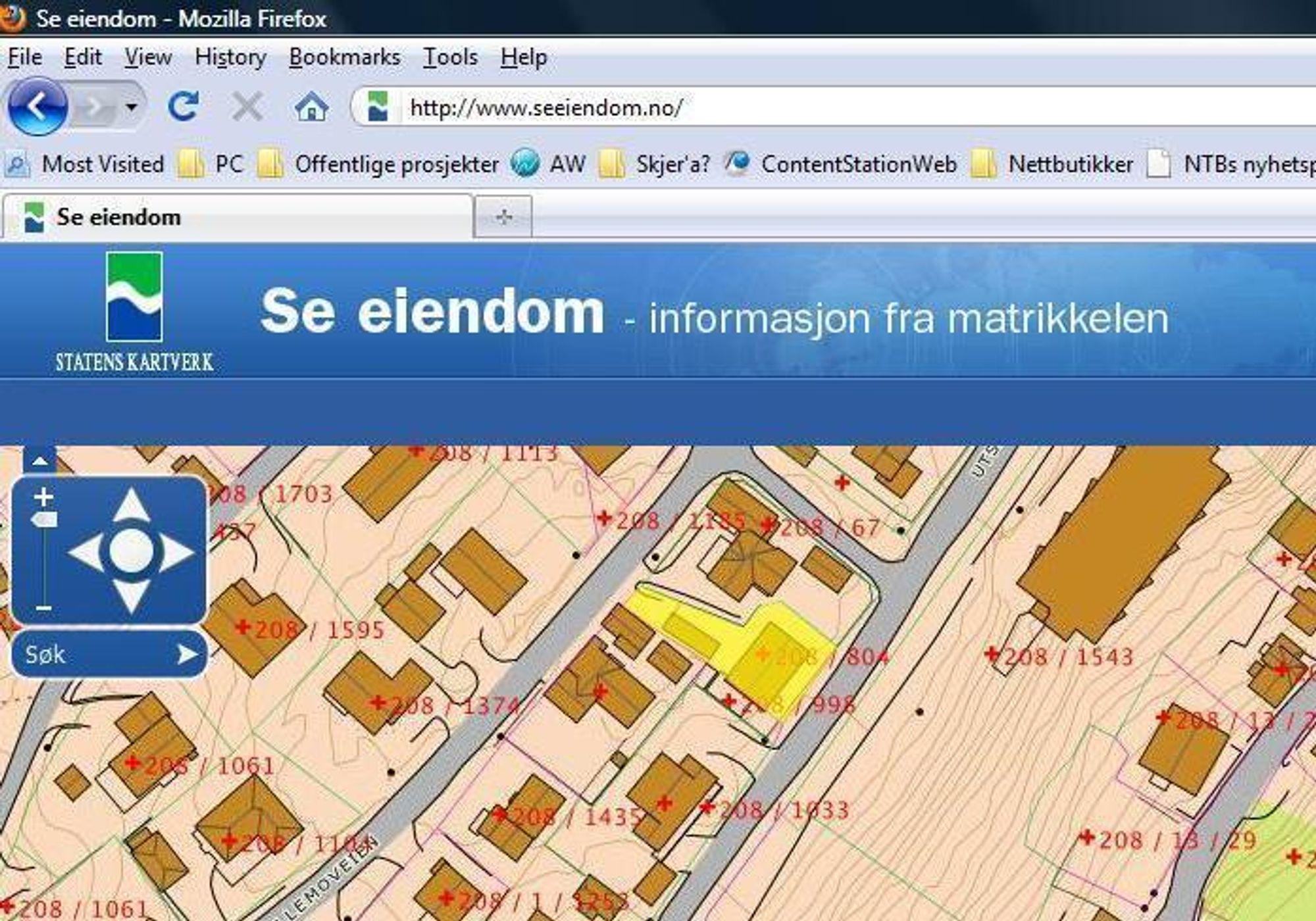 PREMIÈRE: Med Kartverkets nye tjeneste ¿Se eiendom¿ kan du selv kontrollere om eiendomsinformasjonen din er korrekt - eller kanskje sjekke ut hvor stor tomta til naboen egentlig er.