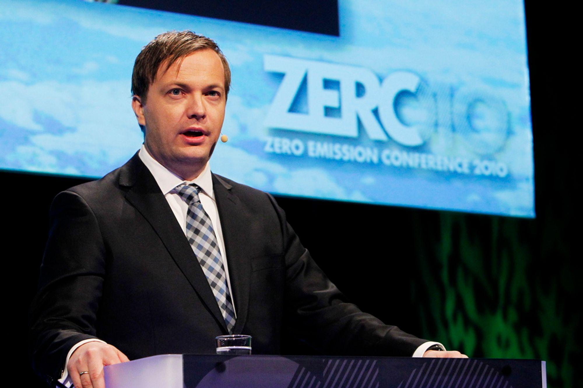 VIL KUTTE HJEMME: Zero-leder Einar Håndlykken mener klimakutt i utlandet er det samme som å subsidiere norsk industris konkurrenter. Bildet er fra fjorårets konferanse.