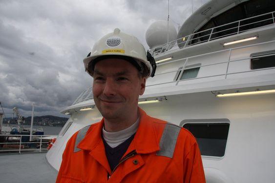 KOPMLISERT: Fugro Symphony er et svært avansert skip og dermed en utfordring for skipsbyggerne, ifølge teknisk sjef Harald Kjøde i Bergen Group BMV.