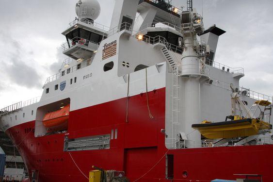 KLAR FOR SJØEN: Fugro Symphony ble overlevert rederiet fra Bergen Group BMV 3. mai.