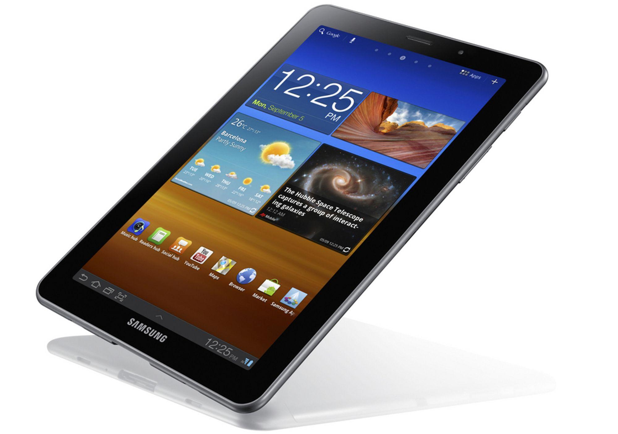 BRETT: Slik ser det ut, Samsungs nye nettbrett på 7,7 tommer.
