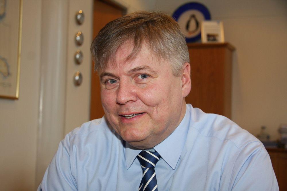 BONUS: Konsernsjef Henrik O. Madsen kan glede seg over et brukbart resultat tross virkning av finaskrisen. Det blir derfor bonus til alle ansatte.