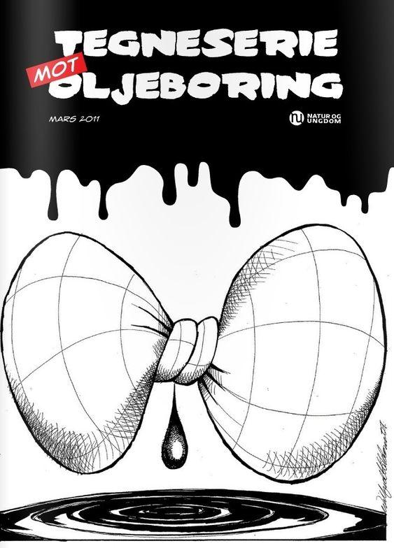 Natur og Ungdoms tegneserie mot oljeboring, mars 2011.
