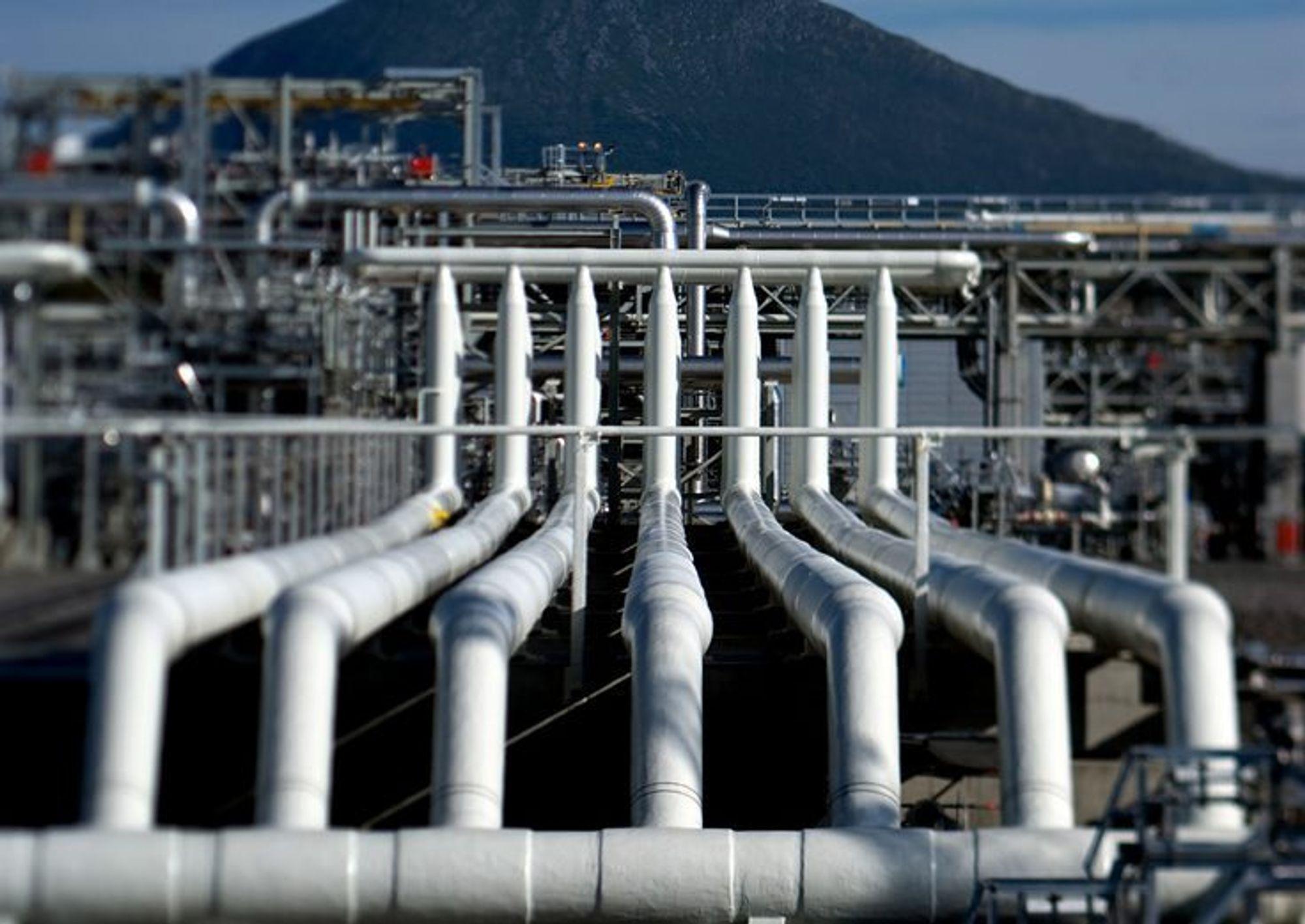 STOR KUNDE: Prosesseringsanlegget til Ormen Lange på Nyhamna er Statnetts største petroleumsrelaterte enkeltkunde. At dette anlegget, som bidrar til den anstrengte kraftsituasjonen i Midt-Norge, skal få rabatt på sentralnettstariffen med fleksibilitet som begrunnelse, er vanskelig å få aksept for blant folk flest, tror Statnett.