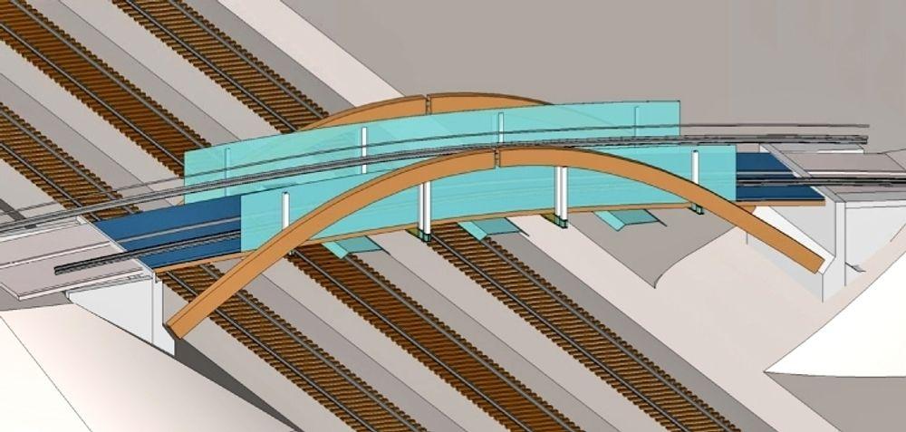 Den nye Smedbrua skal heises på plass i en togluke 21.-22. mai. Noen uker senere tas den i bruk.