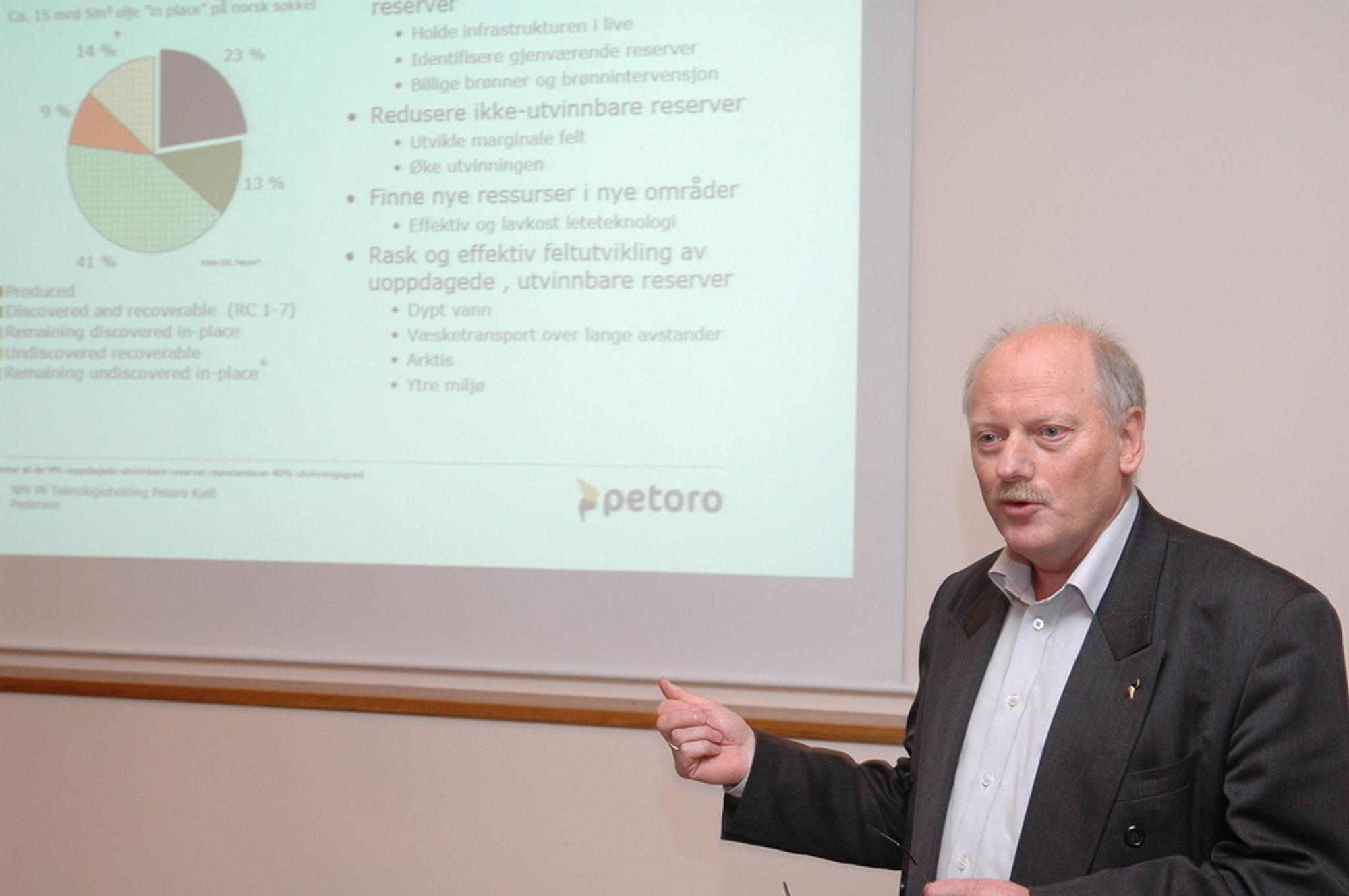 I EKSITESTERENDE: - Det fleste investeringene vil komme i allerede eksisterende felt på norsk sokkel. Over 50 prosent kommer i nye brønner, sier Kjell Pedersen i Petoro.