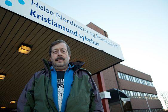 UROLIG: Bengt Eriksson, leder i LO Ytre Nordmøre, frykter at beredskapen ved Kristiansund sykehus ikke er god nok for Norskehavet.