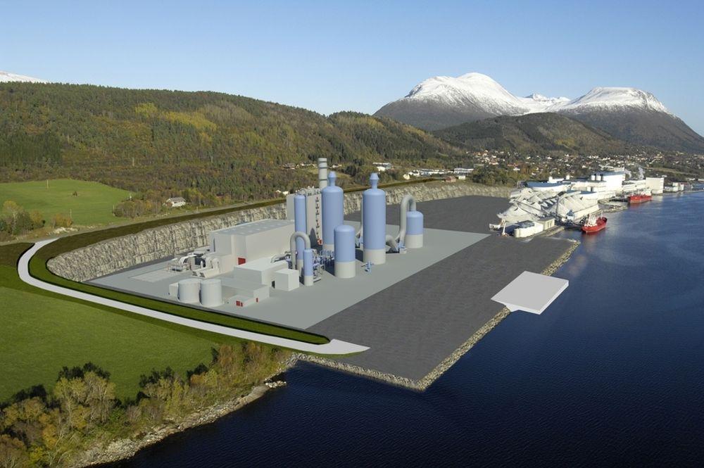 SKRINLEGGER: Industrikraft Møre har konsesjon på bygging av et gasskraftverk i Elnesvågen i Fræna.