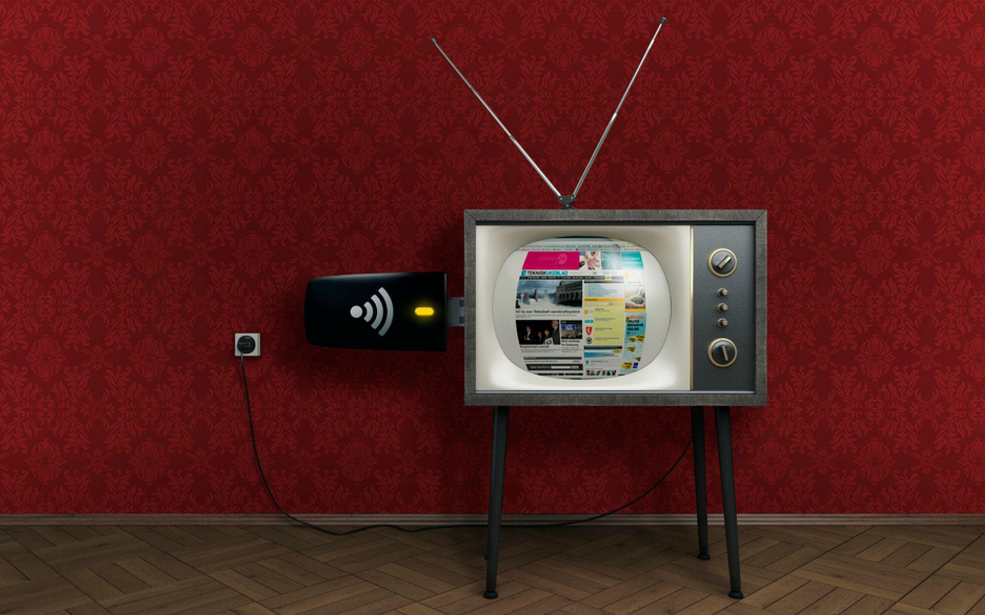 """""""Det hvite rommet"""" som til enhver tid ikke benyttes i TV-frekvensene vil kunne gi en enorm økning i kapasiteten på mobilt bredbånd. Men først må radioene bli smartere."""