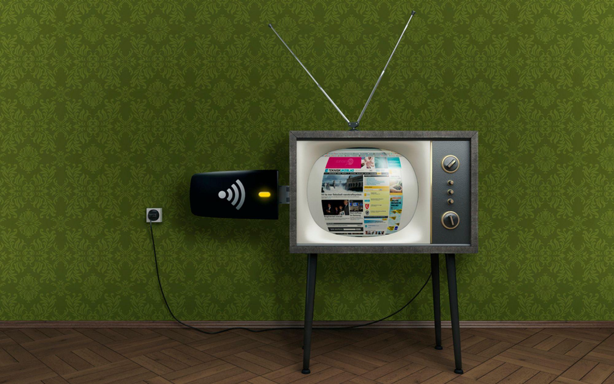 MER PLASS: Mobilt bredbånd krever mer plass på verdensbasis, og det betyr mindre plass til digital tv-kringkasting.