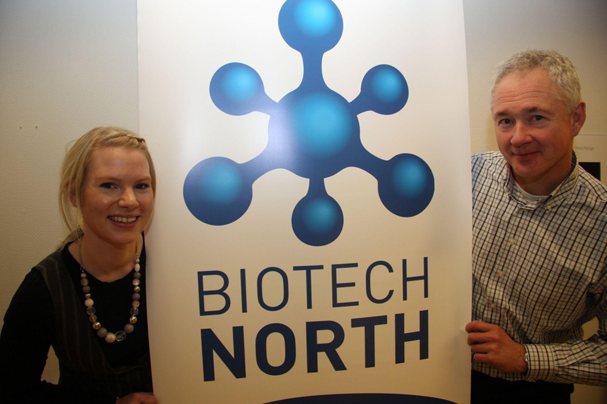 PROFILERER BIOTEKNOLOGI:-Vi skal samle, styrke og profilere bioteknologi-bedriftene i Tromsø-regionen, sier Ernst Kloosterman og Line Bøe Setså i Biotech North.