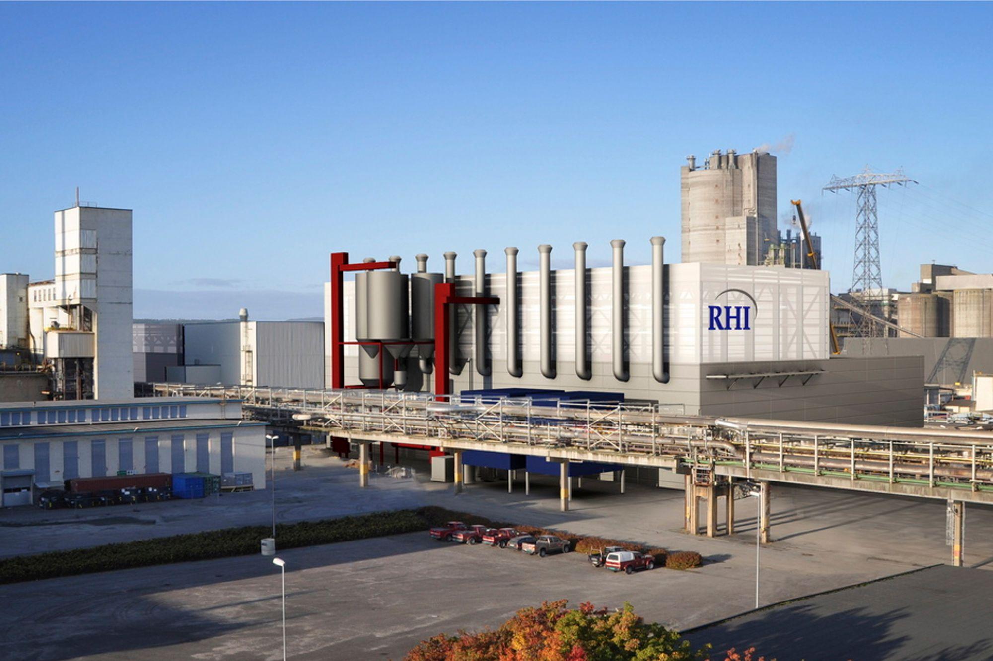 NYE ARBEIDSPLASSER: 130 personer får arbeid i den nye fabrikken til RHI.