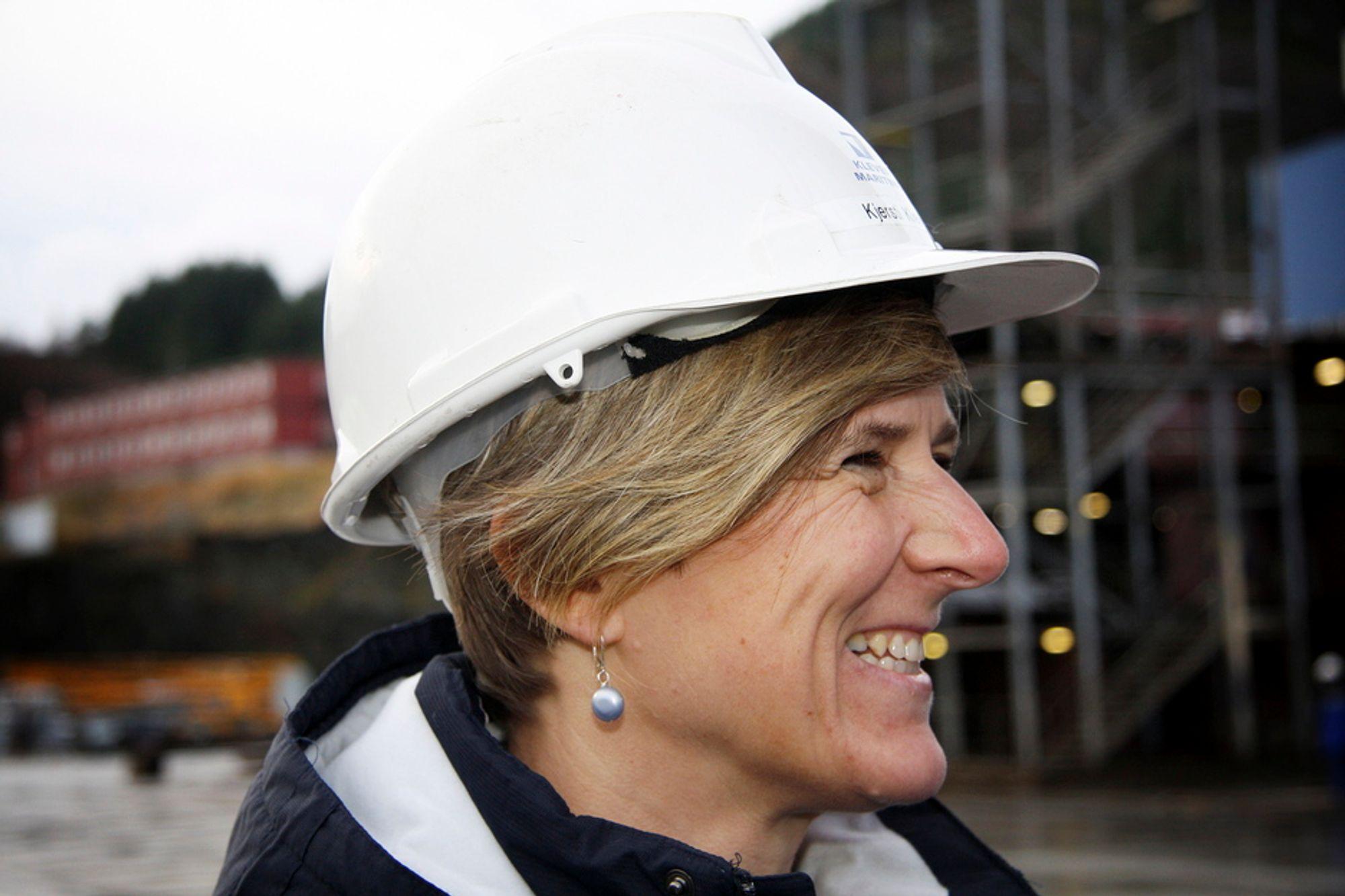 MAKT: Kjersti Kleven havner på 61. plass på Kapitals liste over viktige kvinner. Hun ler høyt når vi spør om hun er skuffet over så lav plassering, hun som hvisker råd rett i øret til statsminister Jens Stoltenberg.