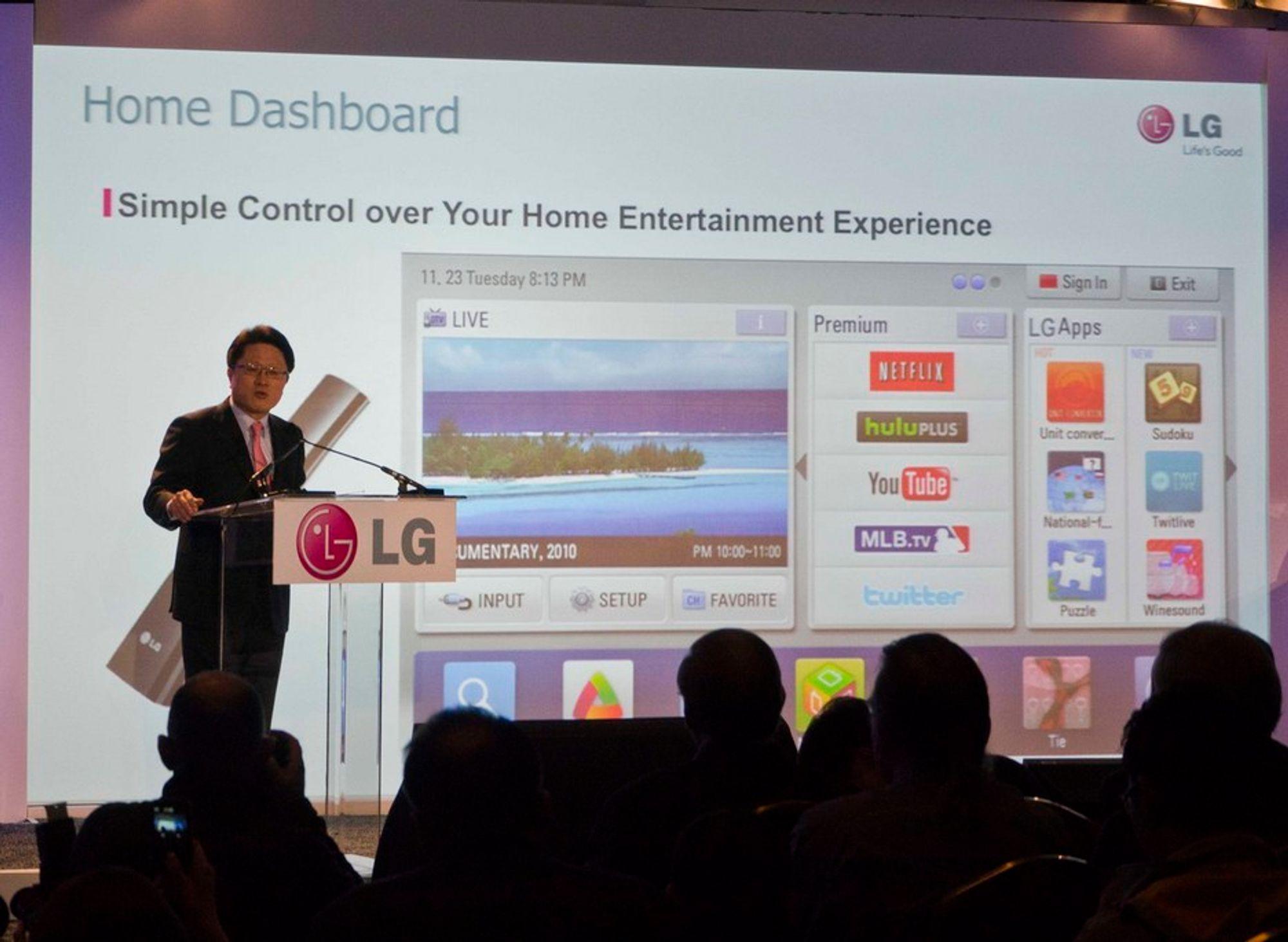 SMART: Dr Scott Ahn er LGs sjefsteknolog er sjef for alle selskapets 17.000 ingeniører rundt om i verden. Nå skal de jobbe for å gjøre hjemmet til et smartere og enklere sted samtidig som strømforbruket skal ned.
