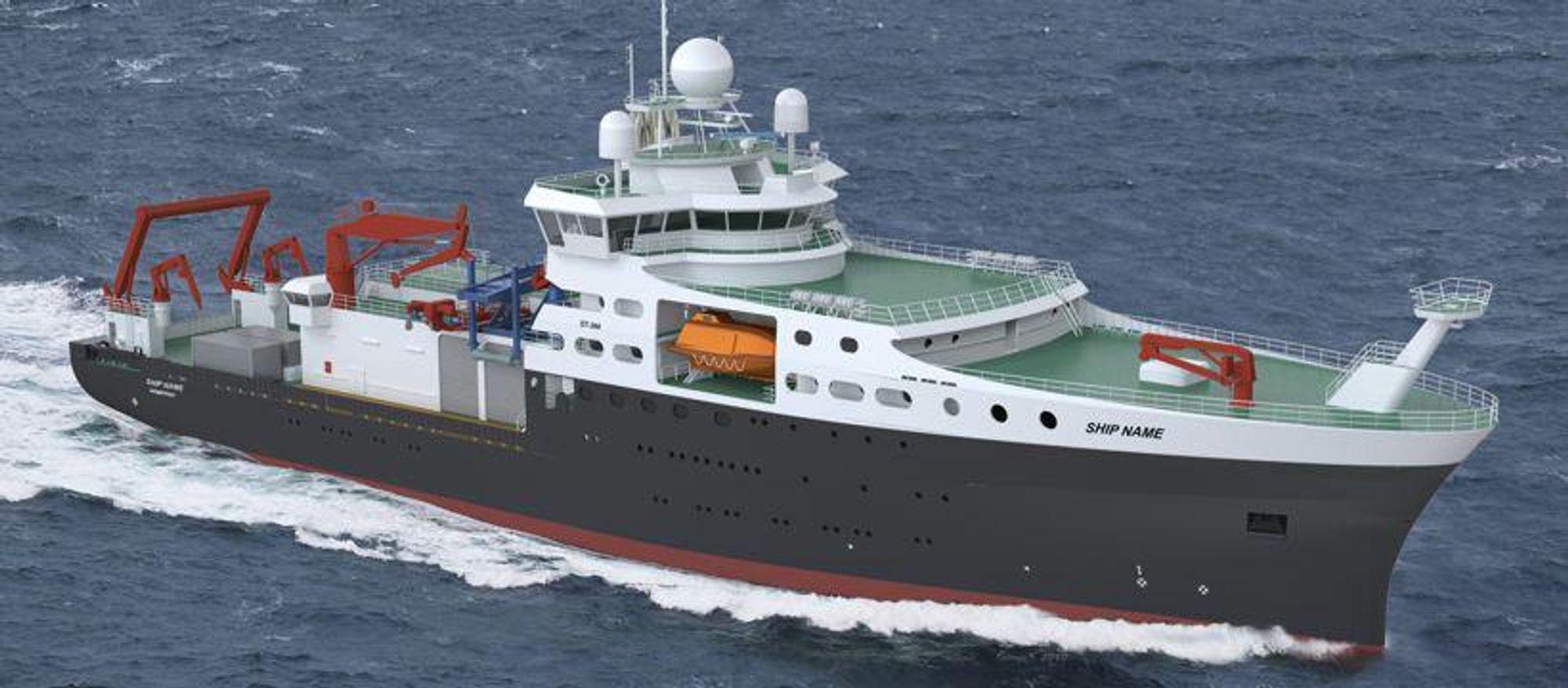 NORSK DESIGN: Skipsteknisk AS har designet RRS Discovery for det britiskebritiske Natural Environment Research Council (NERC).