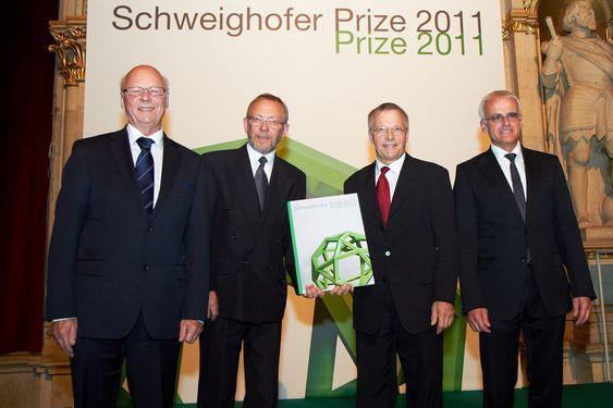v.l.n.r. Bo Borgström, Svein Dag Henriksen, Age Holmestad und Gerald Schweighofer
