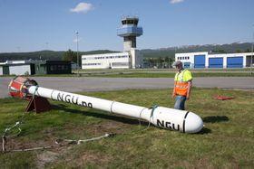 Bardufoss lufthavn. På kartlegging med NGU i Mauken-området i Målselv kommune, juni 2011.