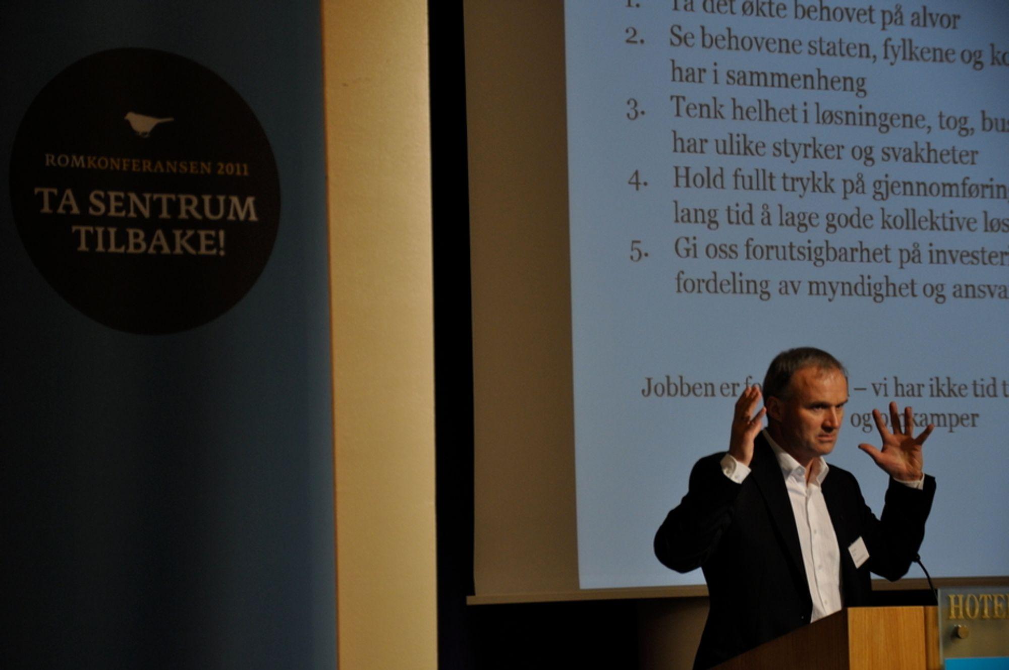 VISJONÆR: - For å ha det bra i Kolbotn må jeg komme meg raskt til Oslo og tilbake, sa Geir Isaksen, konsernsjef i NSB.