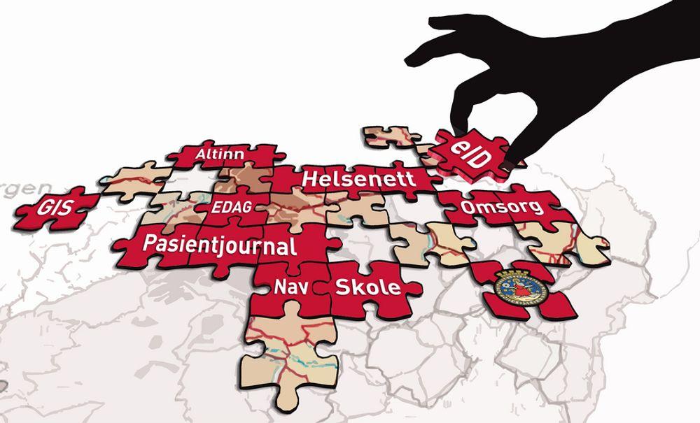PUSLESPILL: Forvaltningen står foran et komplisert puslespill med å få statlige etater og landets kommuner til å samordne it-satsingen.