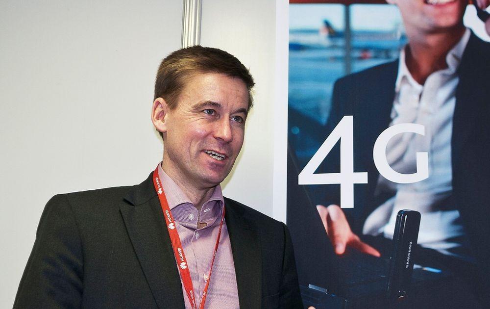 BYGGER VOLDSOMT: Netcomsjef August Baumann bygger LTE over hele landet det remmer og tøy kan holde.