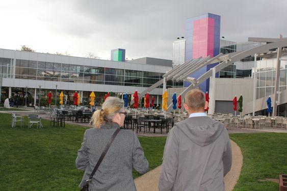 KVARTAL: Google har nå bygninger over flere kvartaler. Her ligger den eldste delen, i bygninger som tidligere tilhørte Silicon Graphics.