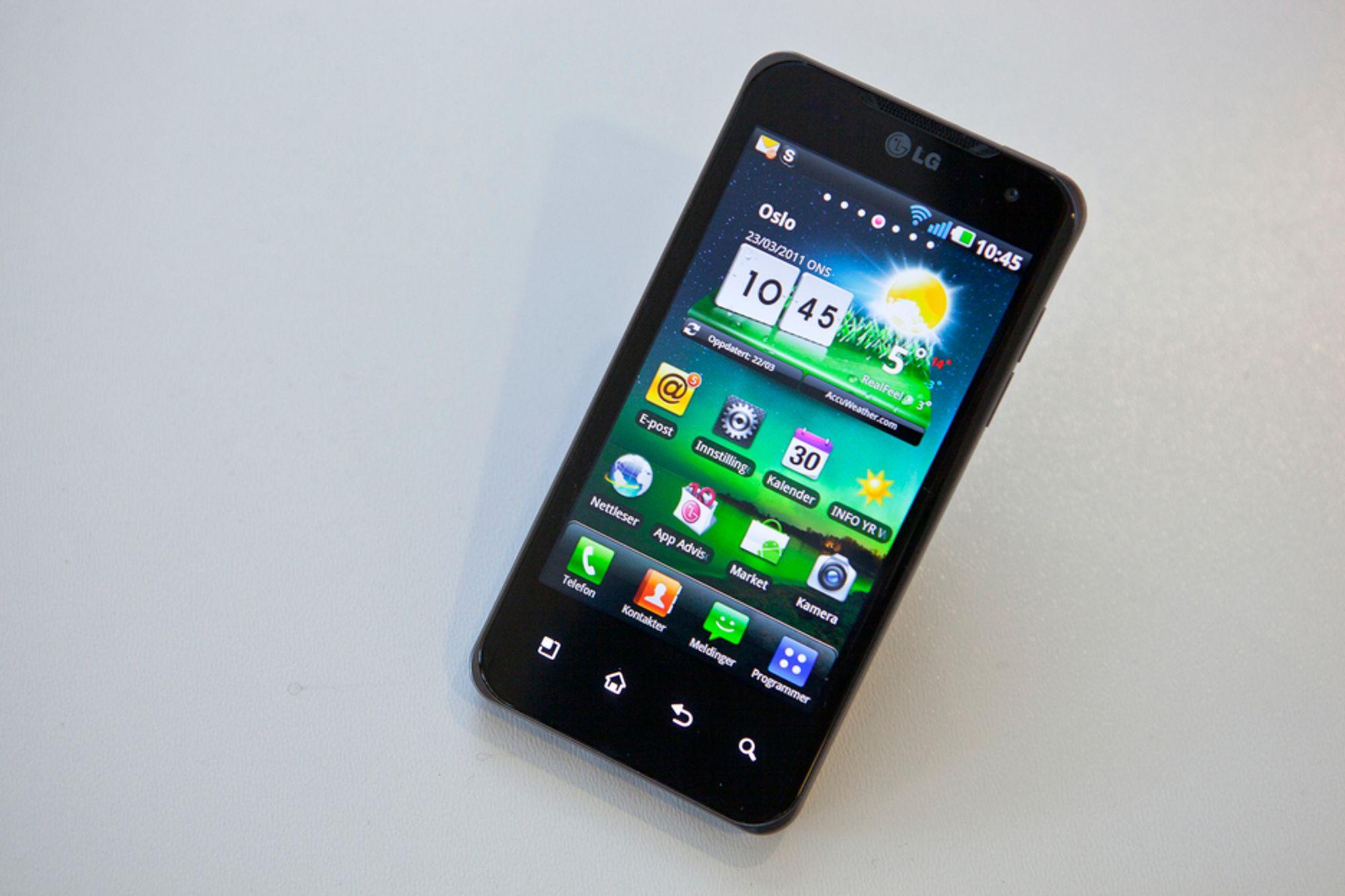 LGs Optimus X2 bruker en Tegra2-prosessor fra Nvidia. Det gjør den til den første dobbeltkjernemobilen.