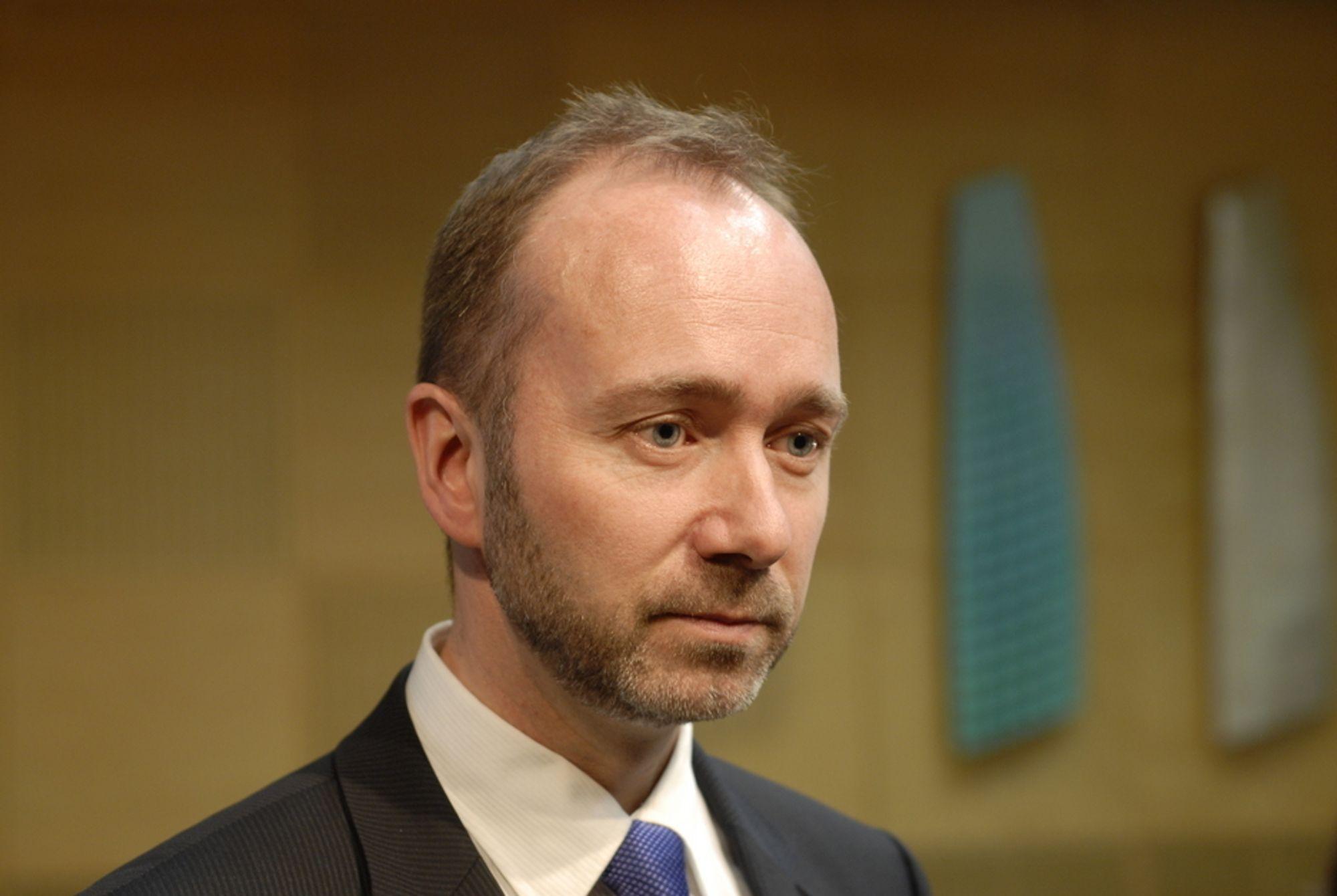 SPRIKER: Næringsminister Trond Giskes statssekretær og Fornyingsdepartementet kommer med sprikende opplysninger om fremtiden til deler av Altinn-løsningen.