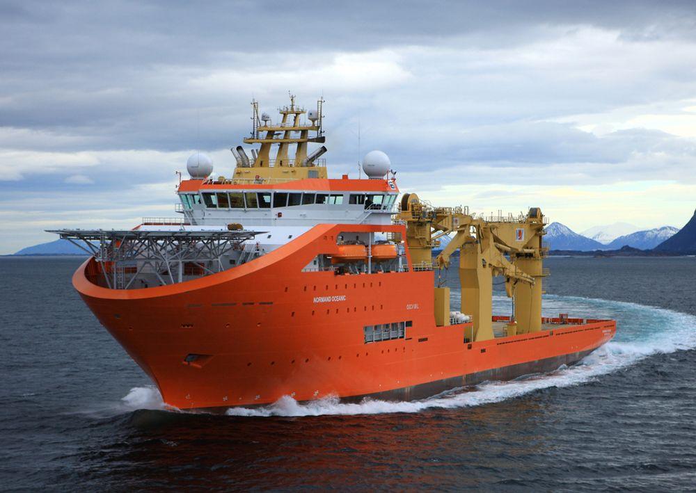 TESTET: Rederiet er svært fornøyd med Normand Oceanics sjøegenskaper, som gir gode arbeidsforhold for mannskapet på opptil 140.