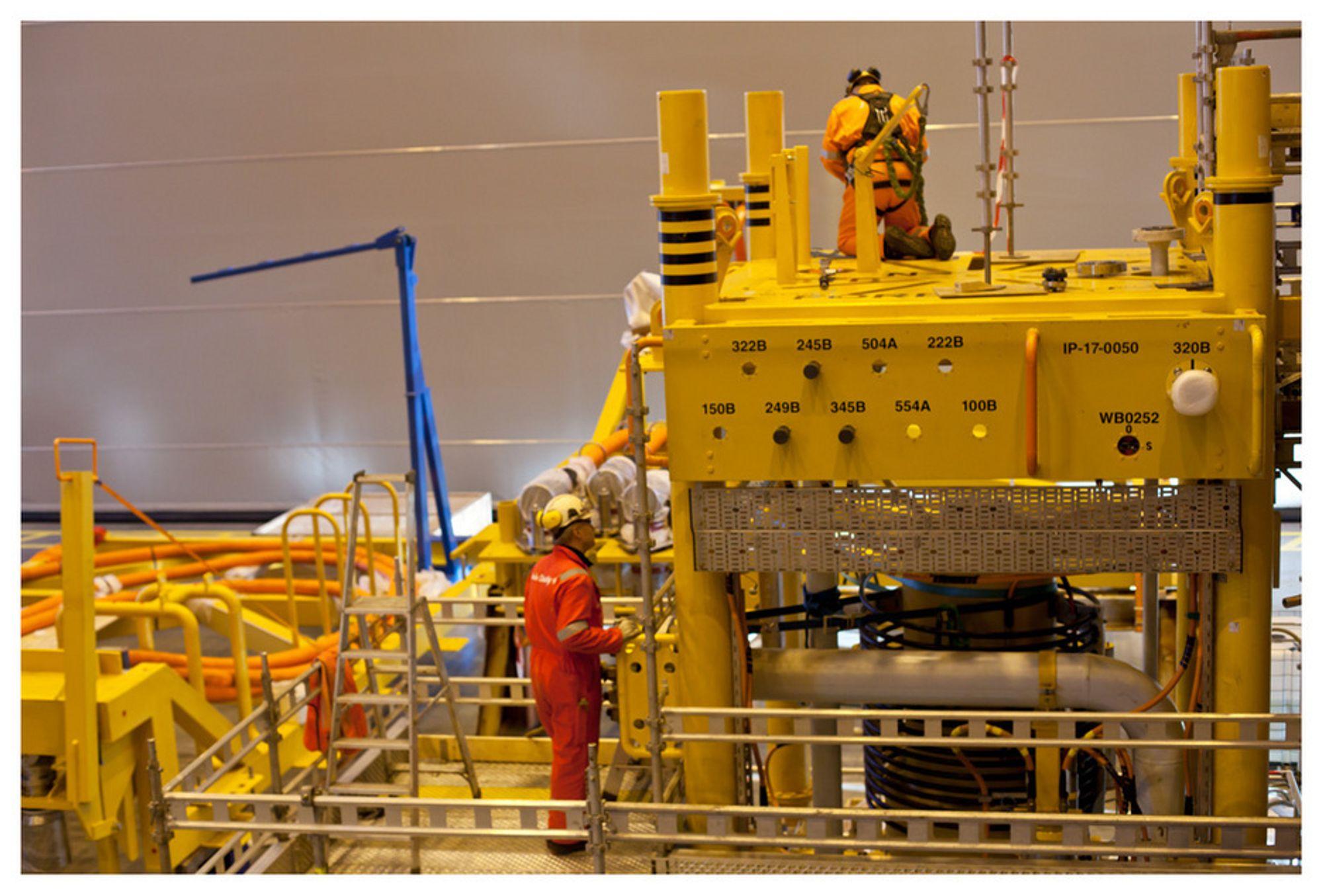 SNART KLAR: I november var pilotanlegget for subsea gasskompresjonsanlegget ferdig montert. Etter det har det vært testet.
