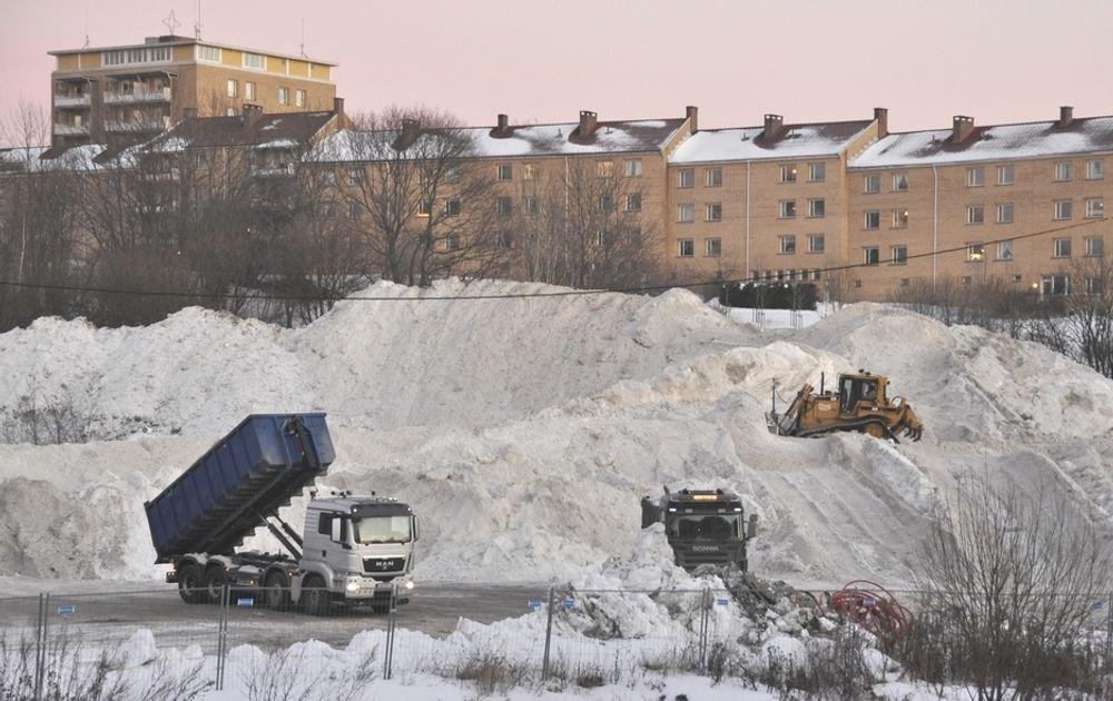 Reservedeponiet på Hasle er allerede tatt i bruk. Kommunen trenger ledig plass på det permanente deponiet på Åsland i tilfelle det skulle bli behov for å tømme snø om natten.