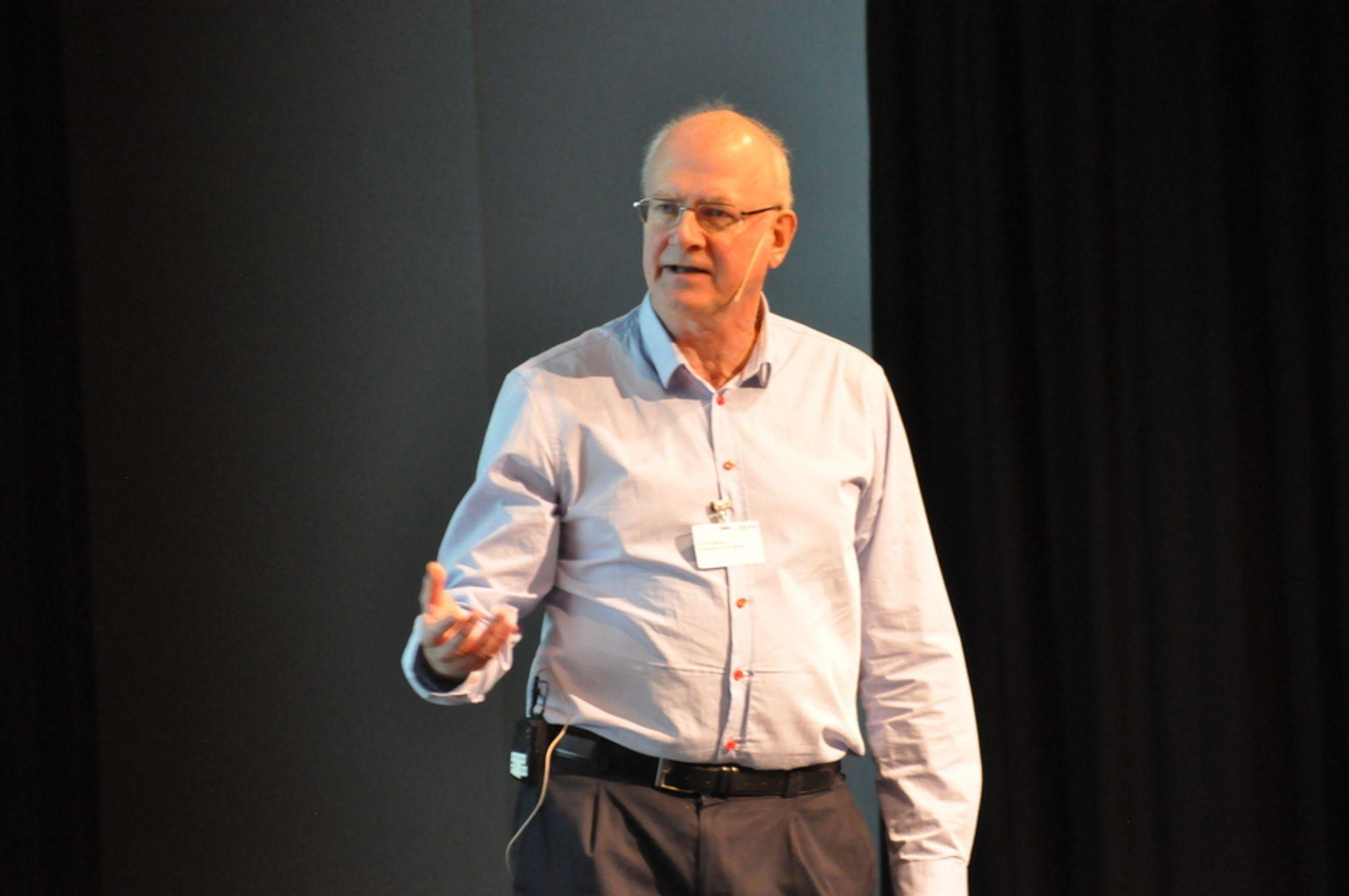 VANNMANN: Christen Ræstad var ordstyrer på konferansen Vann, avløp og nye rettsregler 2011.