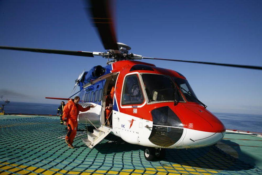 Et av CHC Helikopter Service' Sikorsky S-92-helikoptre.