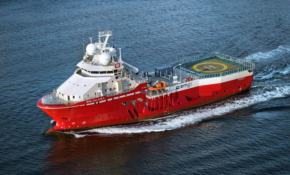TIL GRØNLAND:  Spesialfertøyet Boa Galatea skal til Grøland for å lete etter hydrokarboner nå i august.