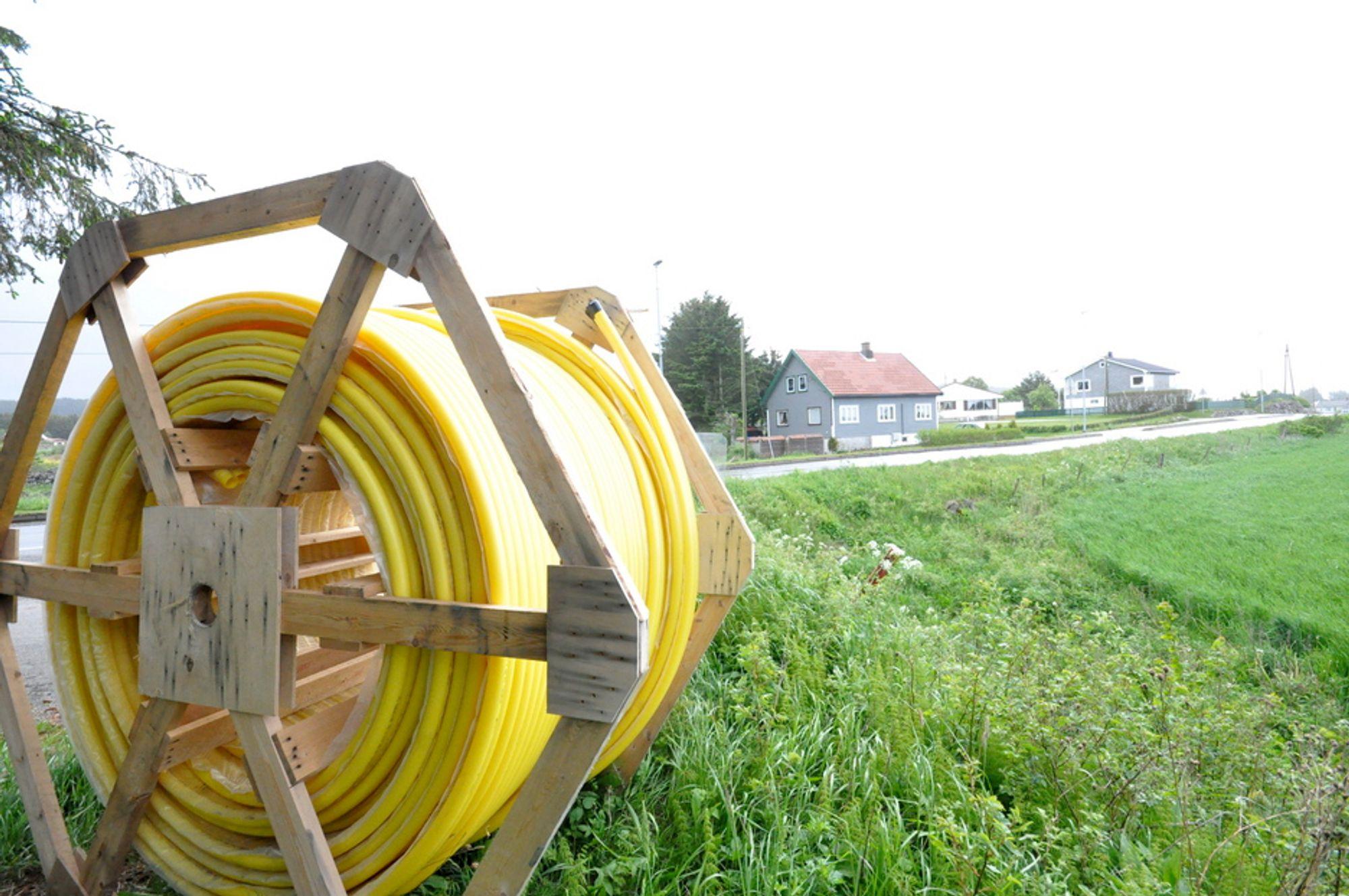 KABELFARSE: Enhver telefonsamtale har i månedsvis vært en potensiell telefonkonferanse på Vanse ved Farsund.