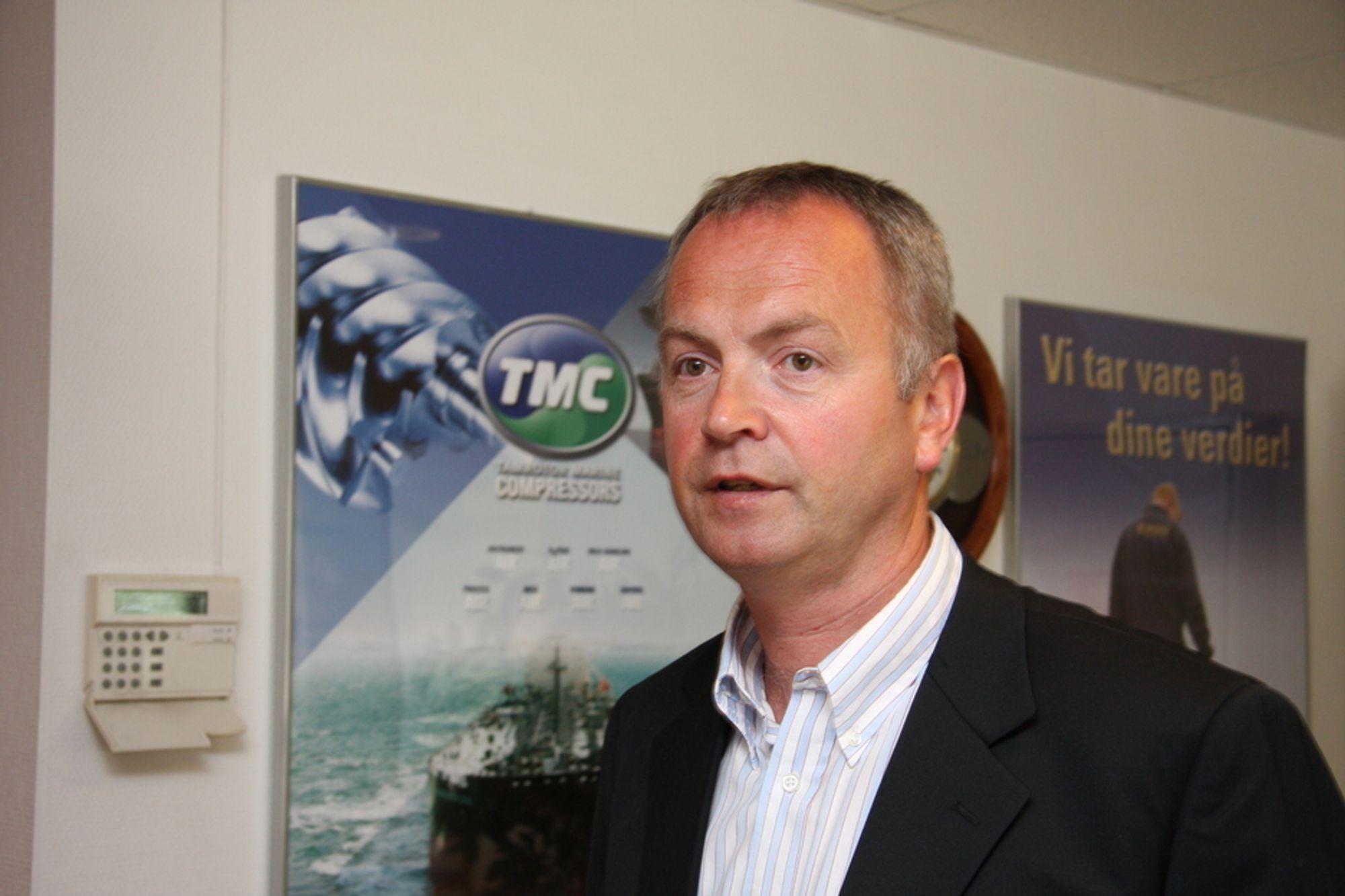 KOMPENSERER: Økt ordreinngang fra offshore, rigg og spesialfartøy klarer nesten å kompensere for fall i ordrene til ordinære skip for TMC Compressor, fastslår adm. dir. Odd-Ståle Sperre Ness.