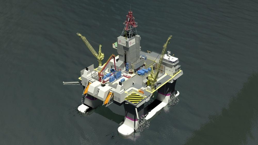 ARBEIDSHEST: De to Kategori D-riggene til Statoil bygges i Sør-Korea. De spesialbygges for havdyp på 100-500 meter og er beregnet på å bore og komplettere brønner året rundt i Nordsjøen og Norskehavet.