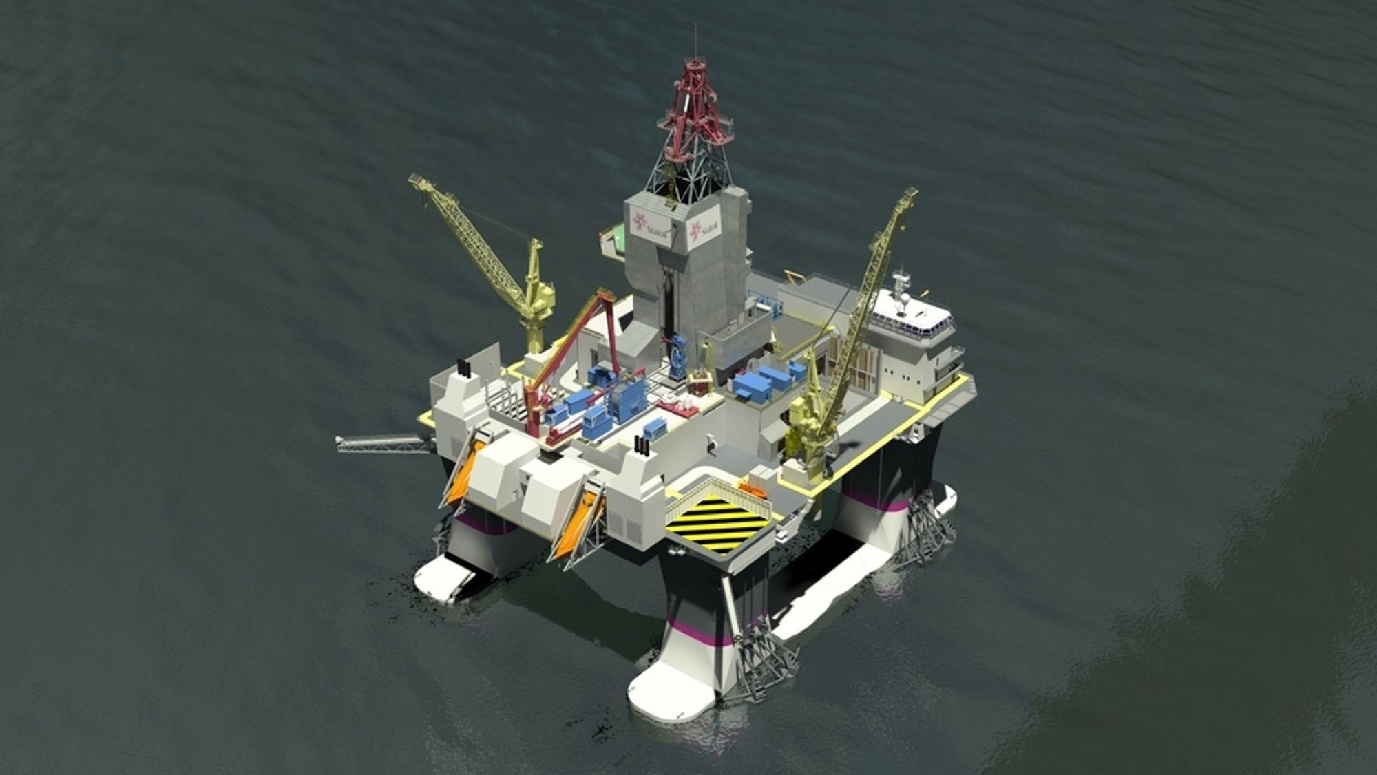 ARBEIDSHEST: Kategori D-riggene til Statoil bygges i Sør-Korea. De spesialbygges for havdyp på 100-500 meter og er beregnet på å bore og komplettere brønner året rundt i Nordsjøen og Norskehavet.