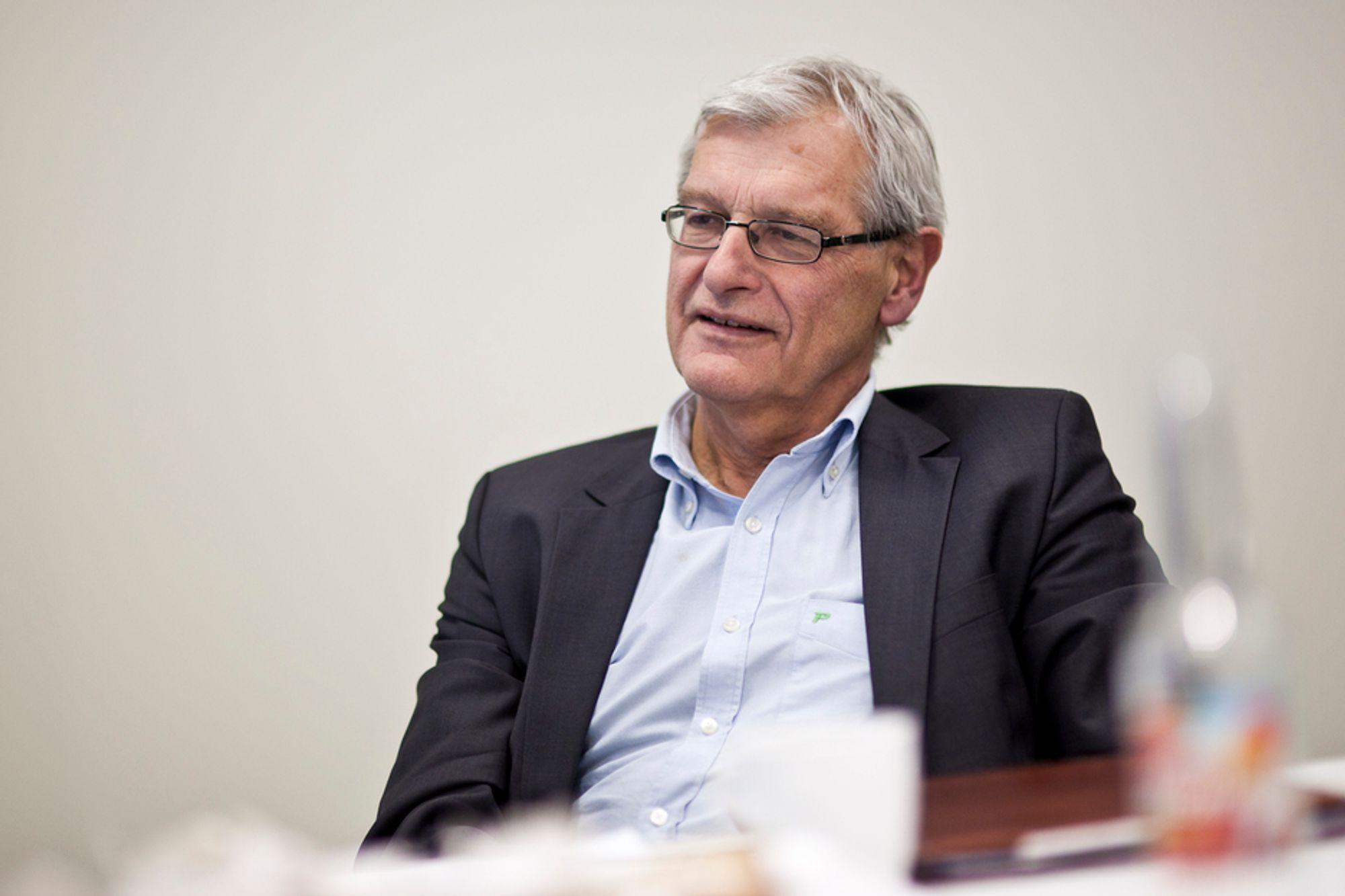 FORTGANG: Arne Skjelle og andre fra byggenæringen mener 200 millioner kroner vil gi fortgang i energieffektivisering.