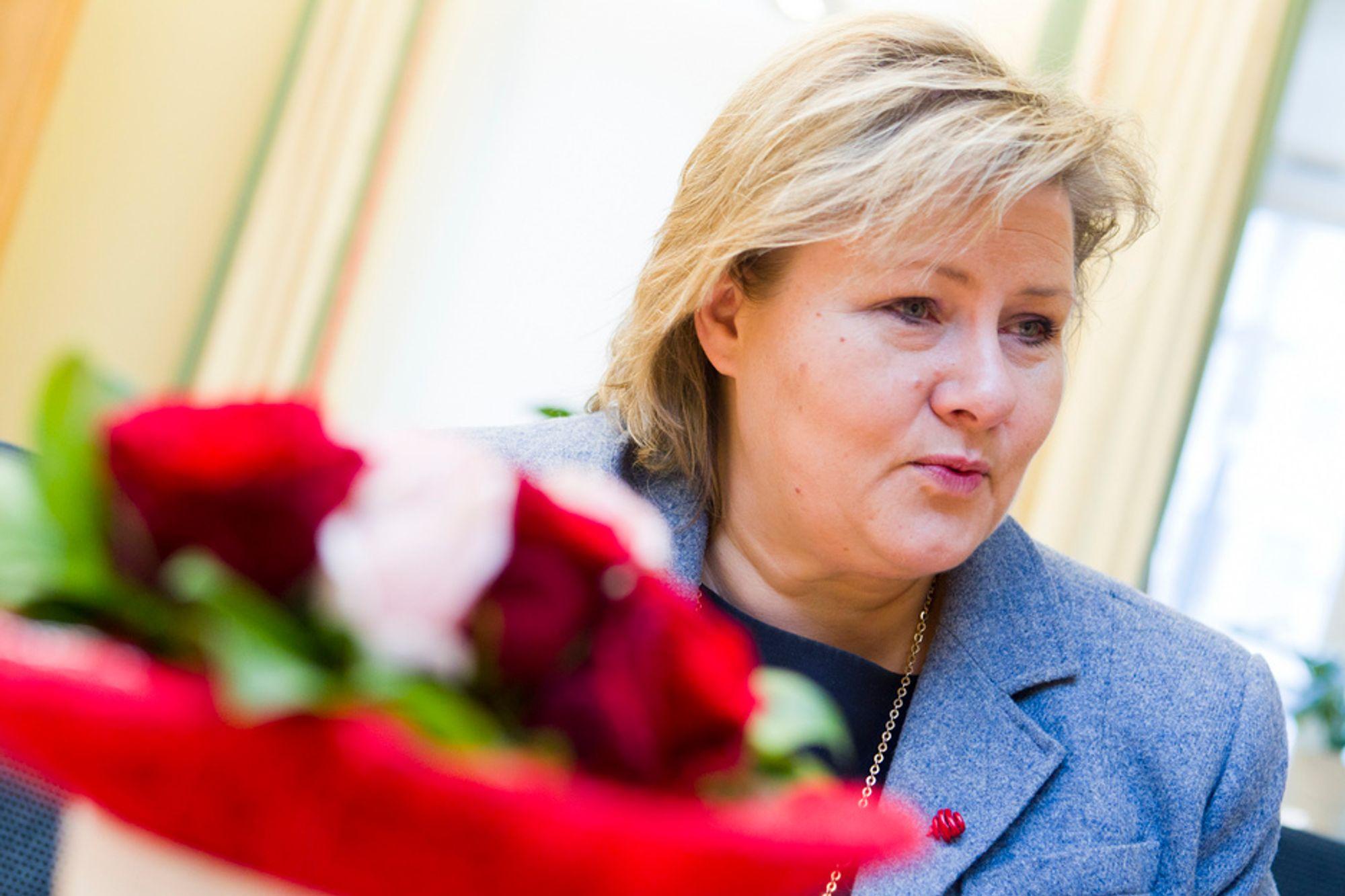 Høyre-leder Erna Solberg vil ha en motvekt til Statoil.