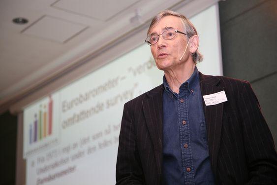 Svein Sjøberg på Det nytter-konferansen om realfag, mars 2011.