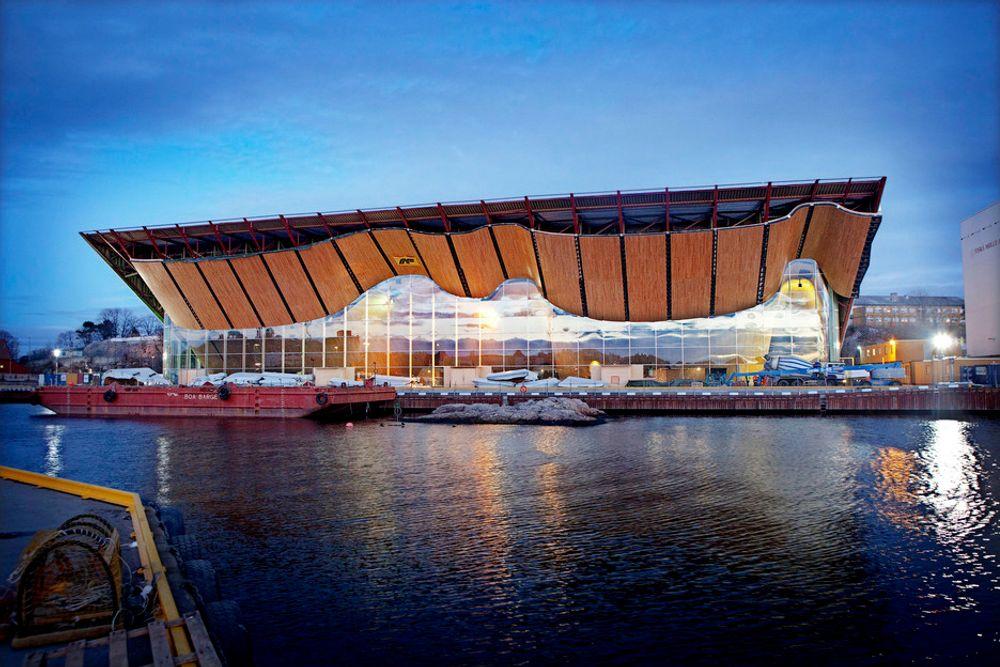 KILDE TIL VEKST: Kulturhuset Kilden i Kristiansand, som AF Gruppen fører opp, symboliserer en region med vekst. I Agder-fylkene og Rogaland vil AF Gruppen mer enn doble omsetningen.