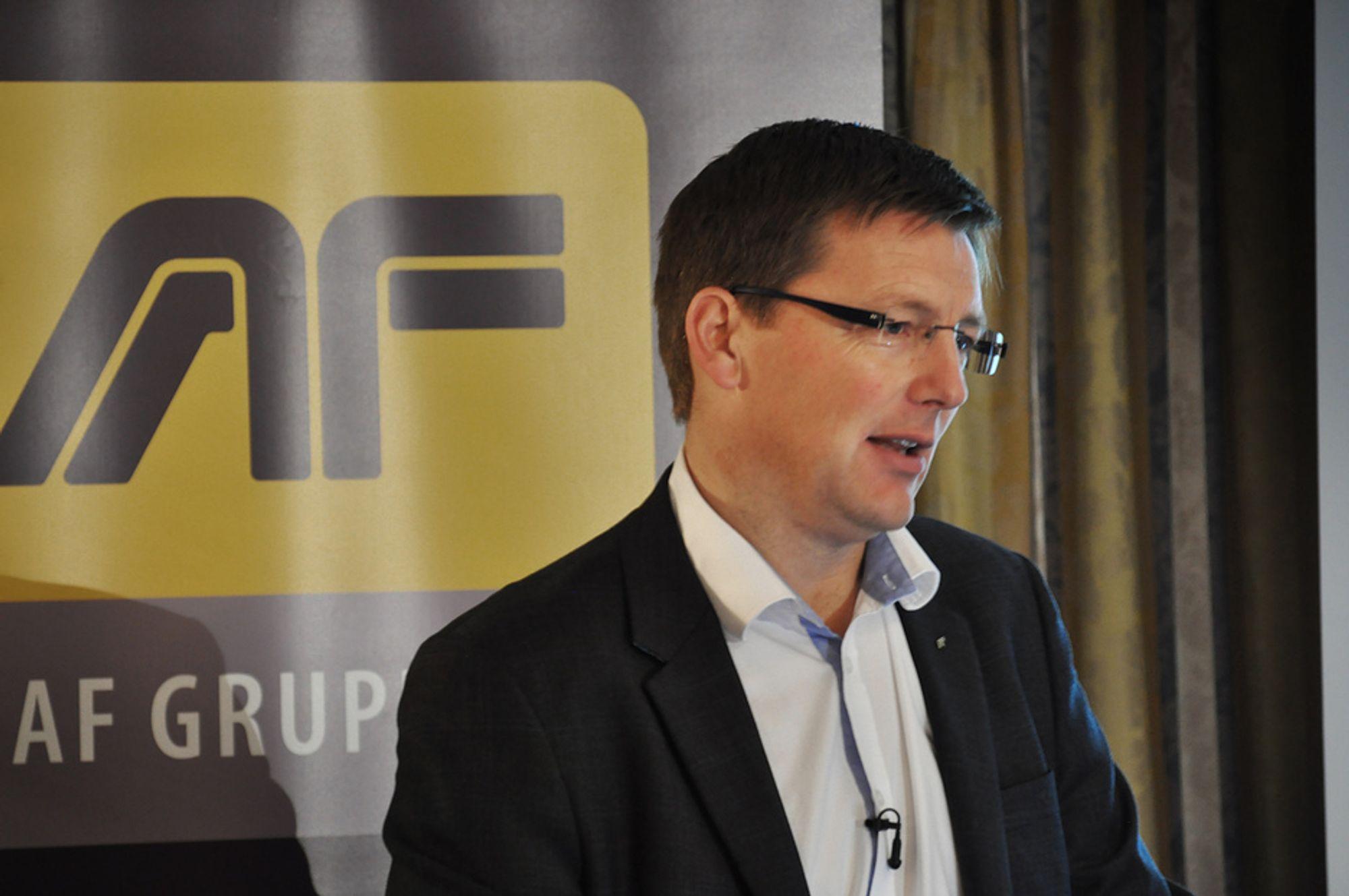 VEKST: Konsernsjef Pål Egil Rønn sa at AF Gruppen har en lønnsom vekst for både organisk og oppkjøpt aktivitet.