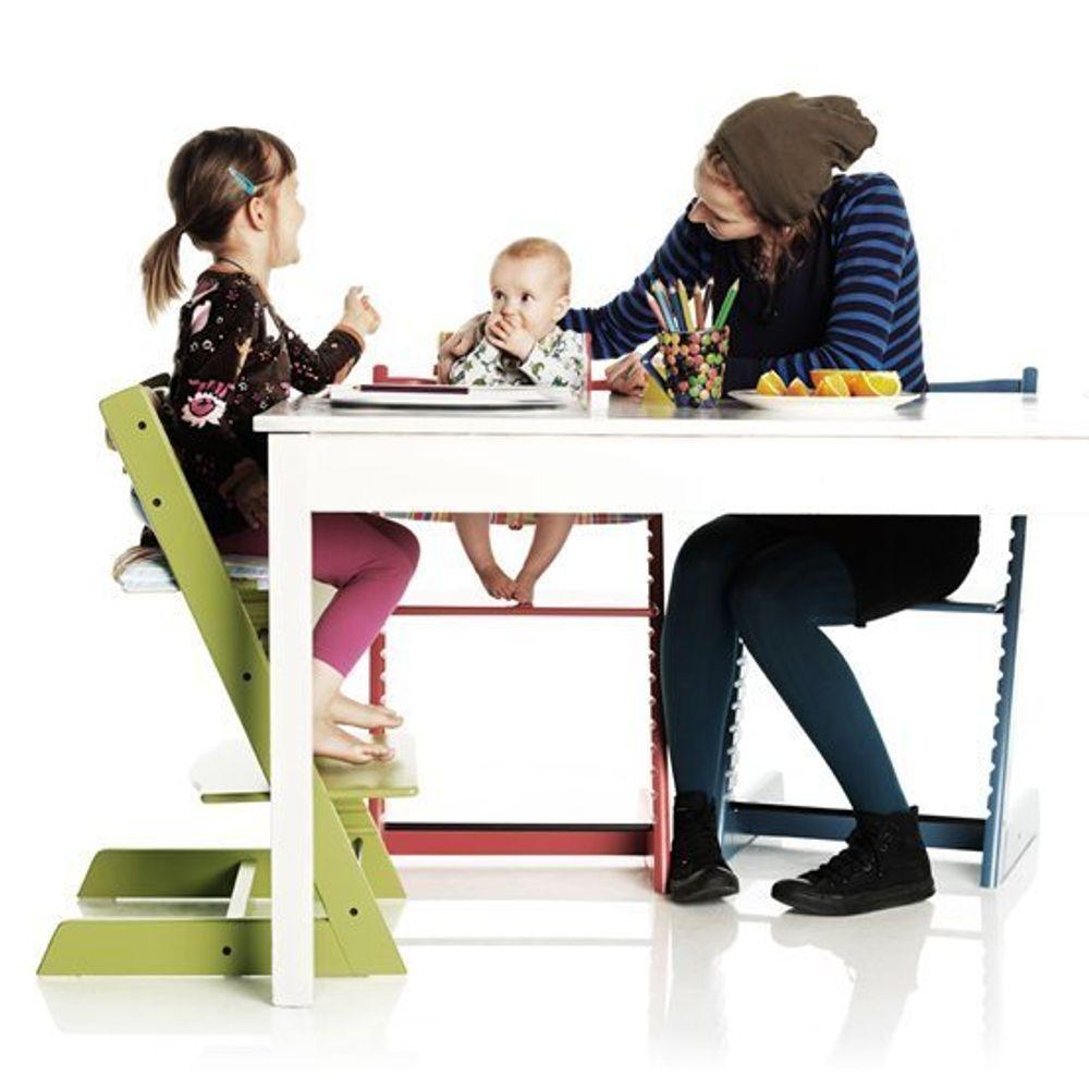 KOPIERT: Tripp trapp-stolen til norske Stokke er mye kopiert. Senest i juni ble selskapet tilkjent 1.5 millioner kroner av dansk høyesterett etter at møbelprodusenten Basson solgte kopien Lulu.